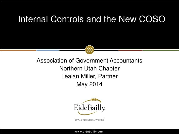 internal controls and the new coso n.