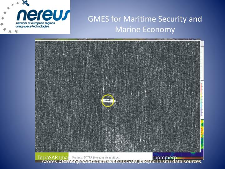 GMES for Maritime Security and Marine Economy
