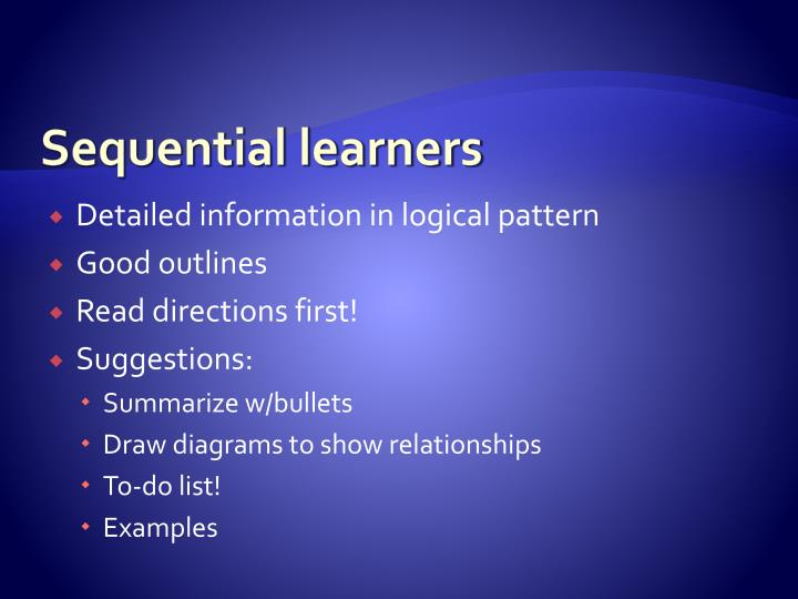 Sequential learners