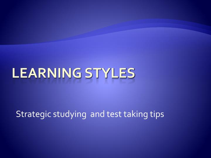 Strategic studying and test taking tips