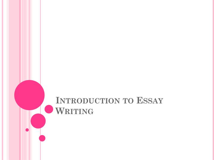 introduction to essay writing n.