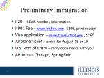 preliminary immigration