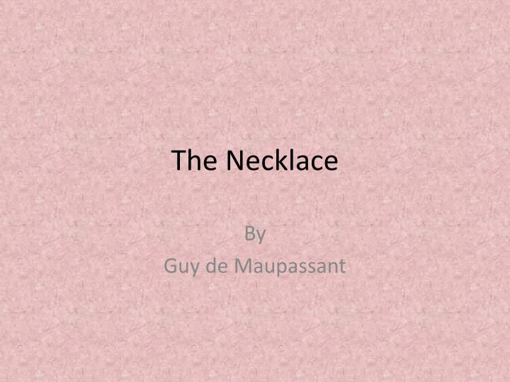 the necklace n.