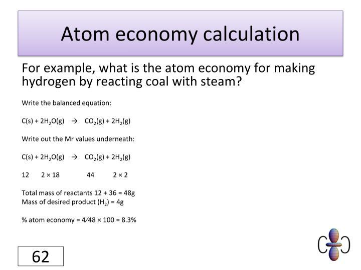 Atom economy calculation