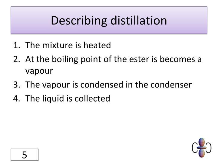 Describing distillation