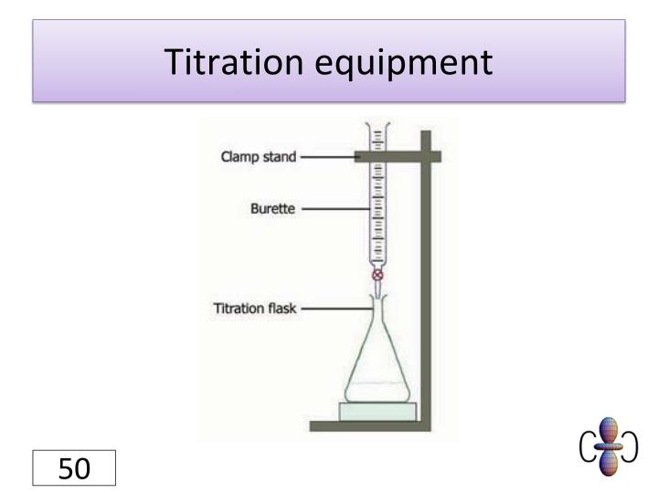 Titration equipment
