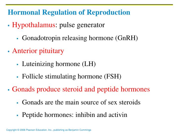 Hormonal regulation of reproduction