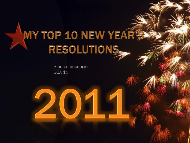 my top 10 new year s resolutions n.