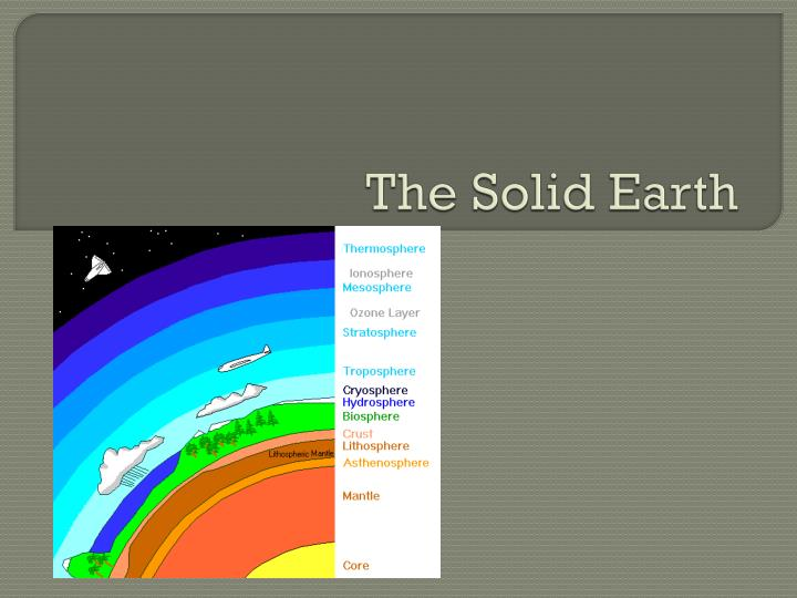 the solid earth n.
