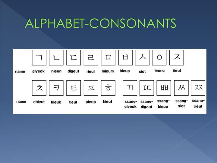 ALPHABET-CONSONANTS