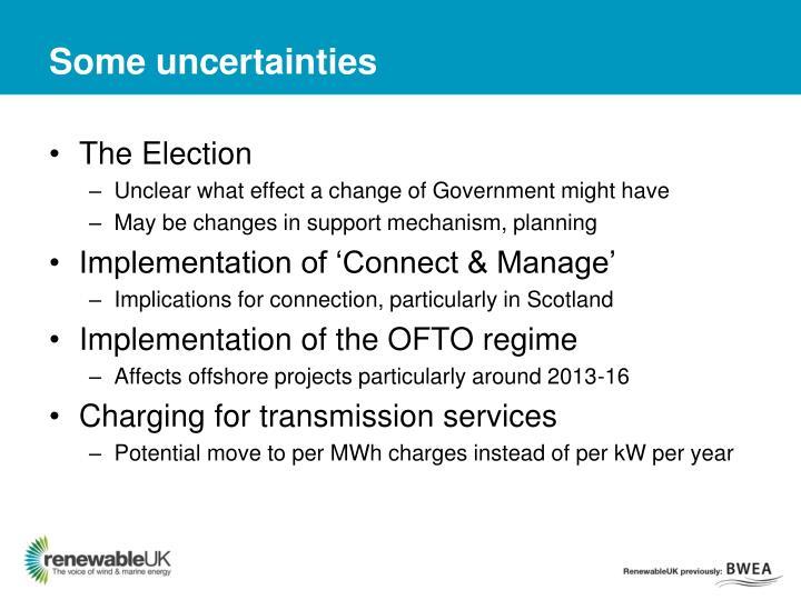Some uncertainties