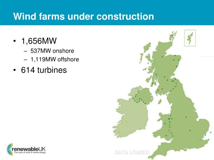 Wind farms under construction