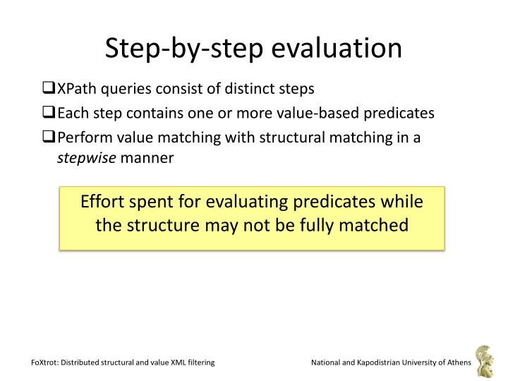 Step-by-step evaluation