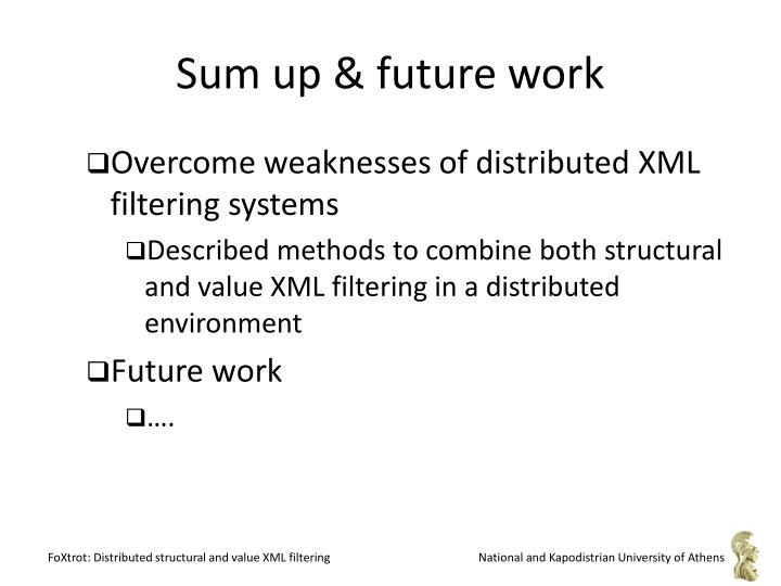 Sum up & future work