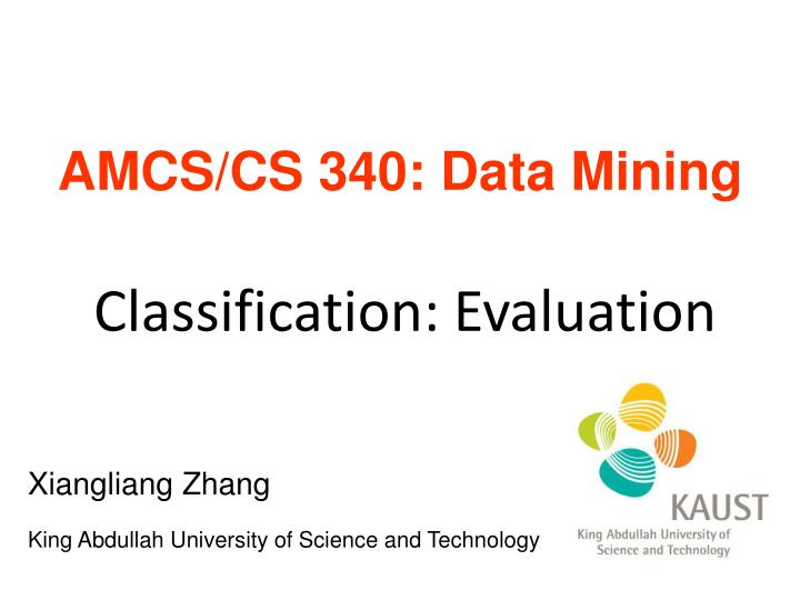 classification evaluation n.