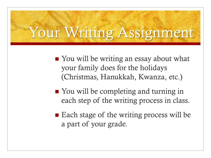 Your Writing Assignment