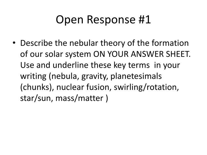 Open response 1