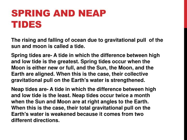 Spring and neap tides