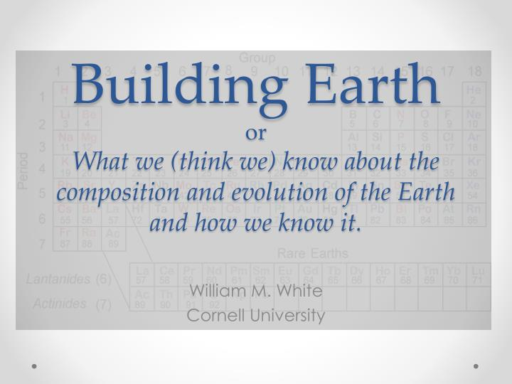 Building Earth