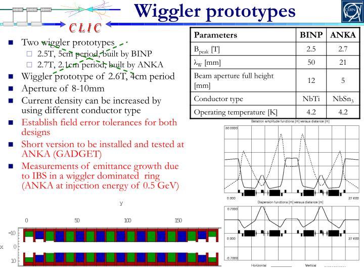 Wiggler prototypes