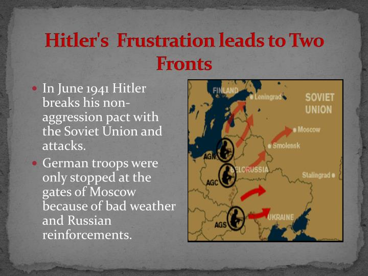 Hitler's  Frustration leads to Two Fronts