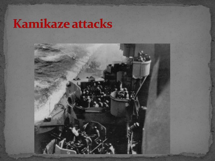 Kamikaze attacks