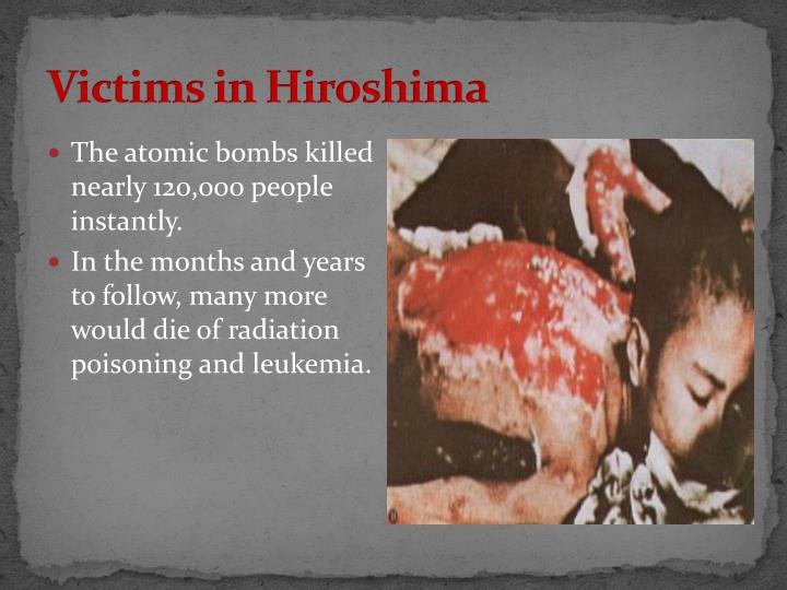 Victims in Hiroshima