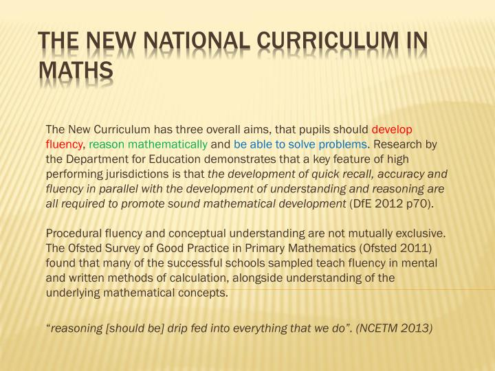 The New Curriculum has three overall aims, that pupils should