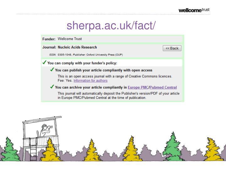 sherpa.ac.uk/fact/