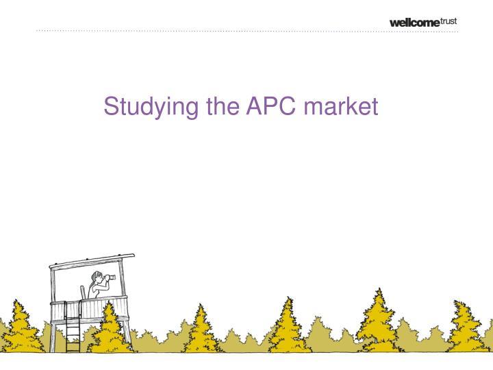 Studying the APC market