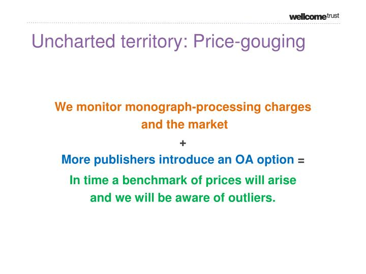 Uncharted territory: Price-gouging