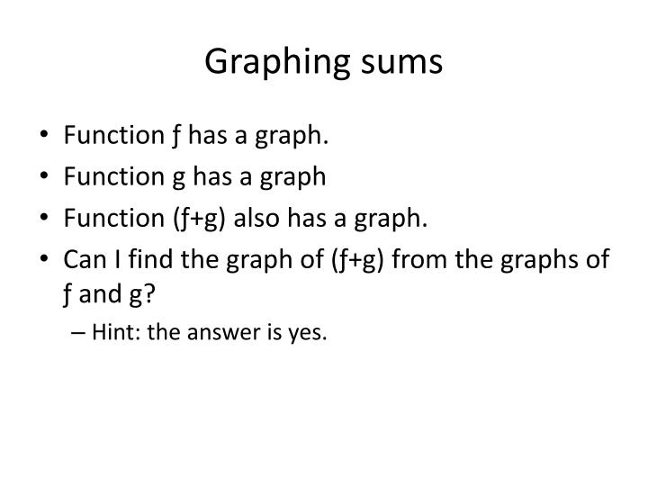 Graphing sums