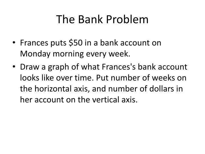 The Bank Problem