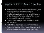 kepler s first law of motion