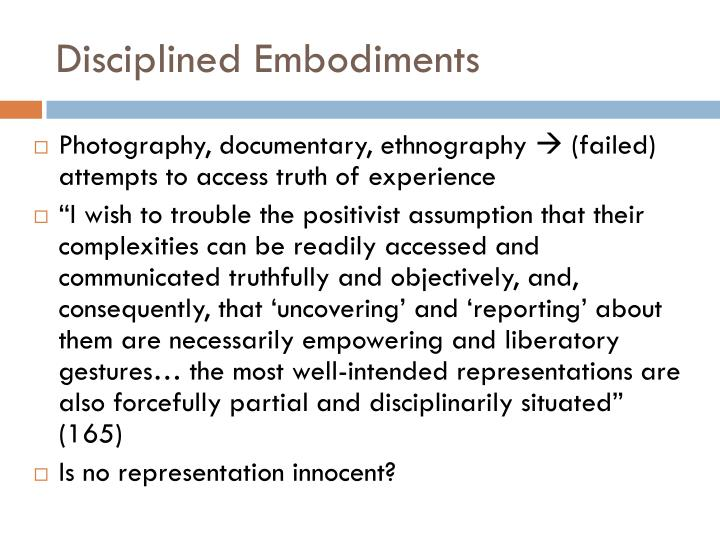 Disciplined Embodiments