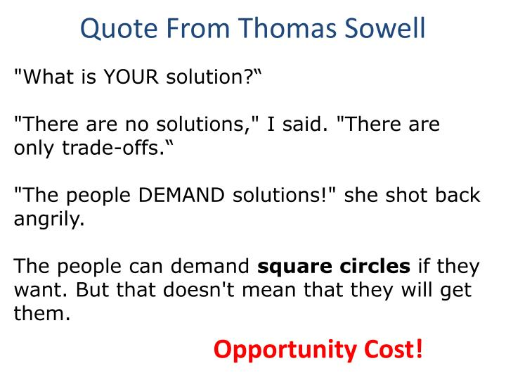 Quote From Thomas Sowell