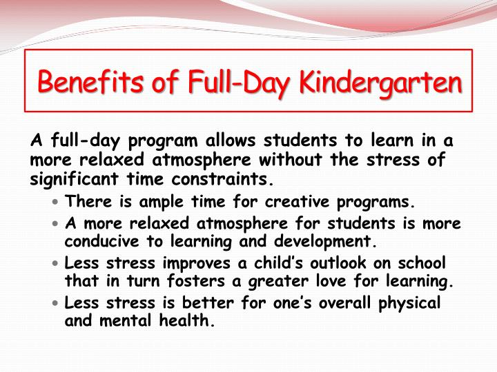 Benefits of Full-Day Kindergarten