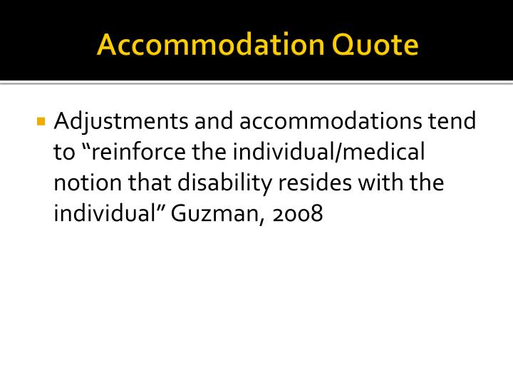 Accommodation Quote