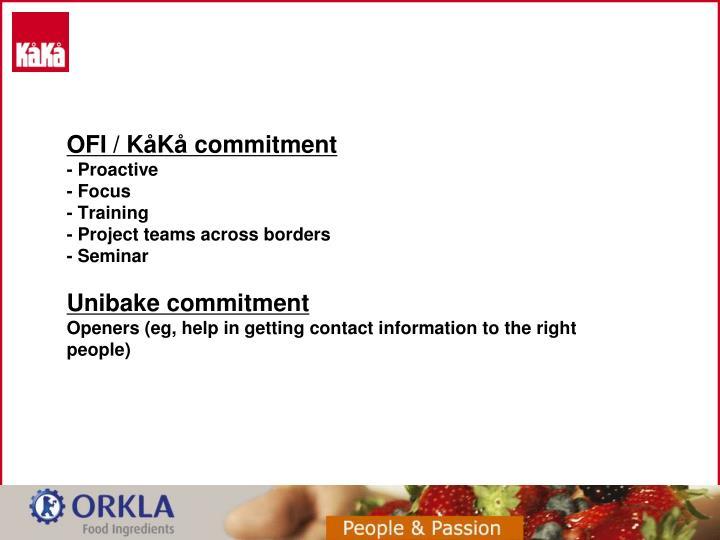 OFI / KåKå commitment