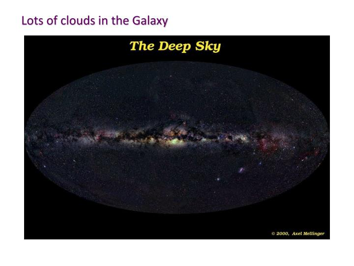 Lots of clouds in the Galaxy