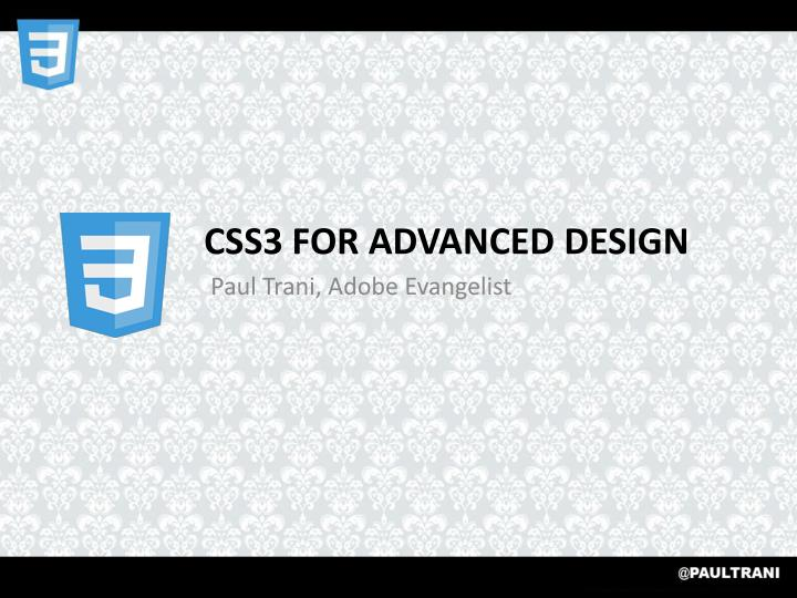 css3 for advanced design