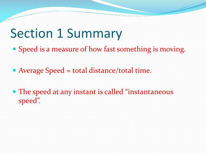 Section 1 summary1