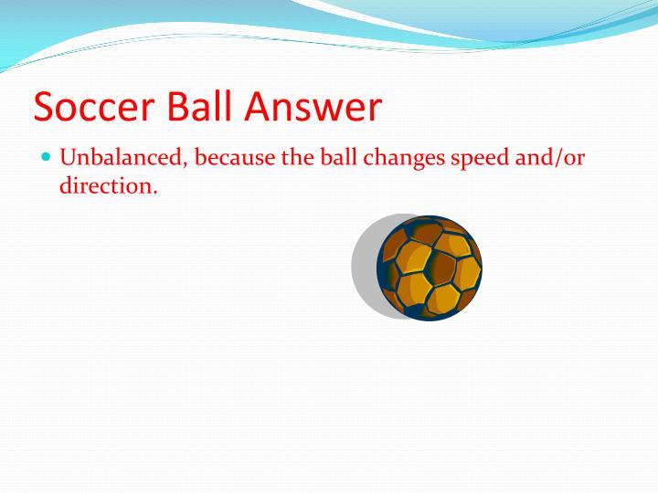 Soccer Ball Answer