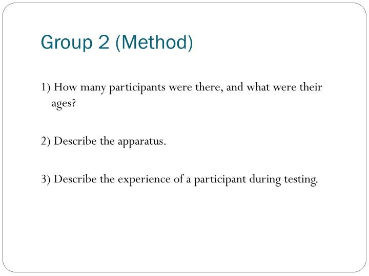 Group 2 method