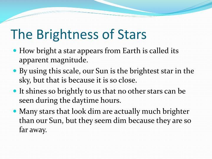 The Brightness of Stars