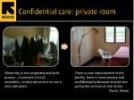 confidential care private room
