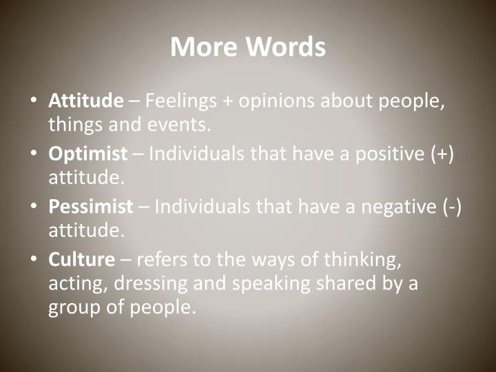 More Words