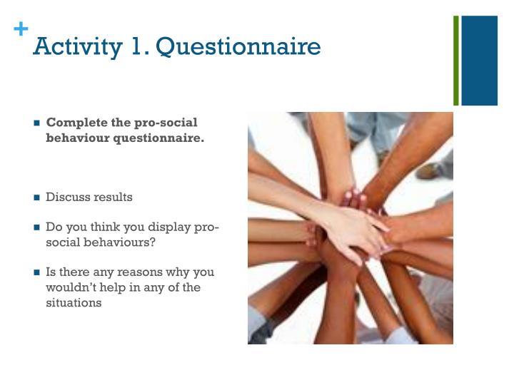 Activity 1. Questionnaire