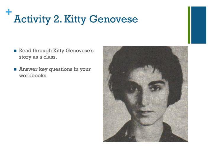 Activity 2. Kitty Genovese