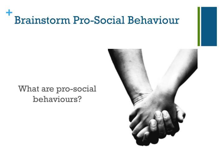 Brainstorm pro social b ehaviour